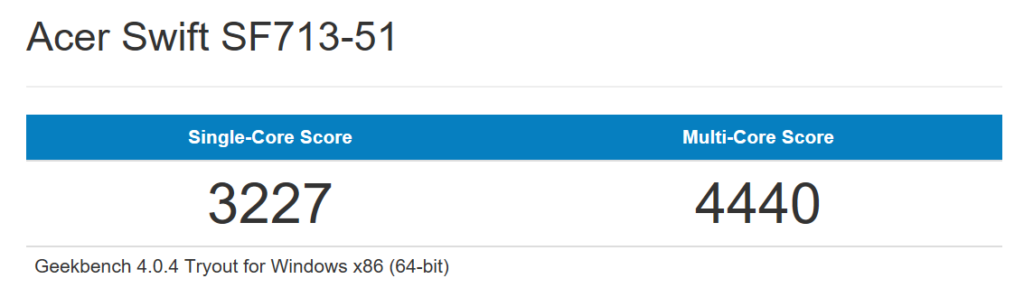 Swift7 Geekbench CPU