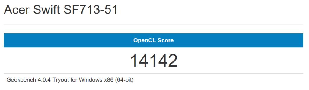 Swift7 Geekbench GPU