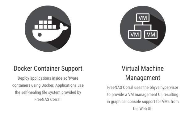 FreeNAS Corral  -  Docker、VMのサポート