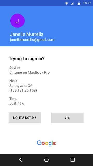 Googleプロンプト