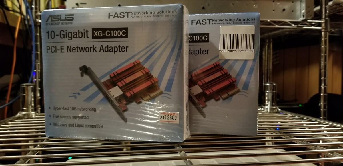 ASUSの格安10G NIC、XG-C100Cを買ってみた