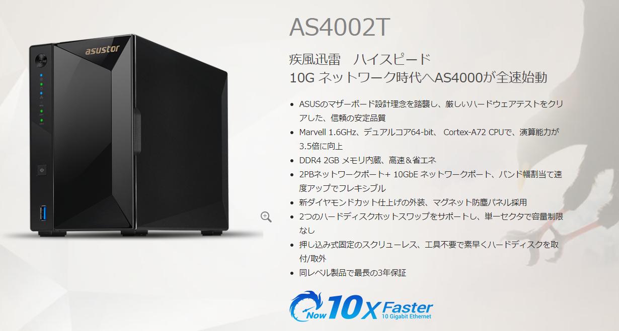 3万円台で購入できる、10GbE対応のNAS筐体がついに登場!
