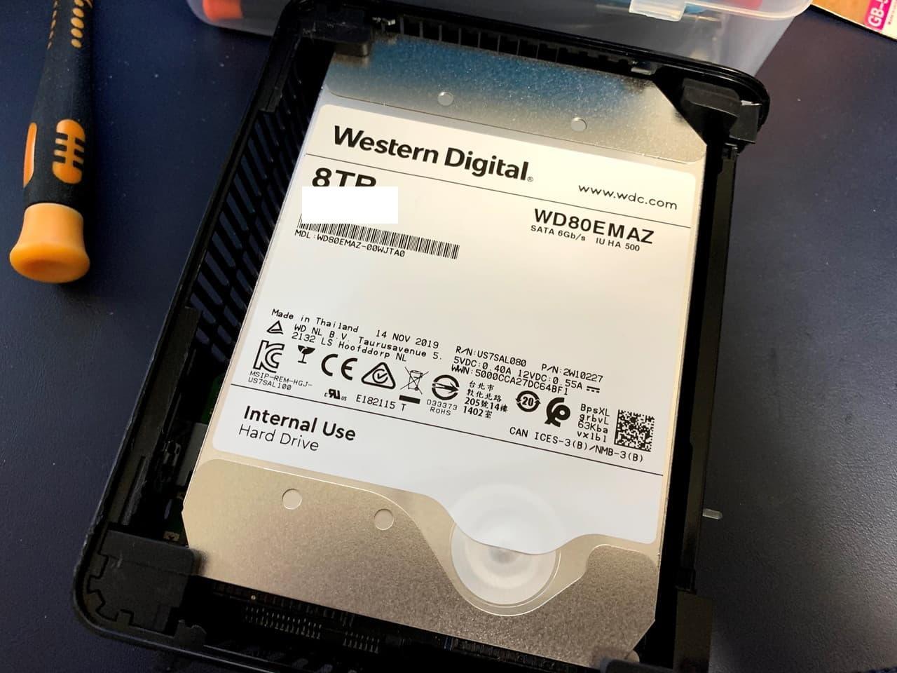 Ultrastar DC HC510の8TBモデルを安く買いたいなら、WD Elements Desktop USB3.0をバラそう