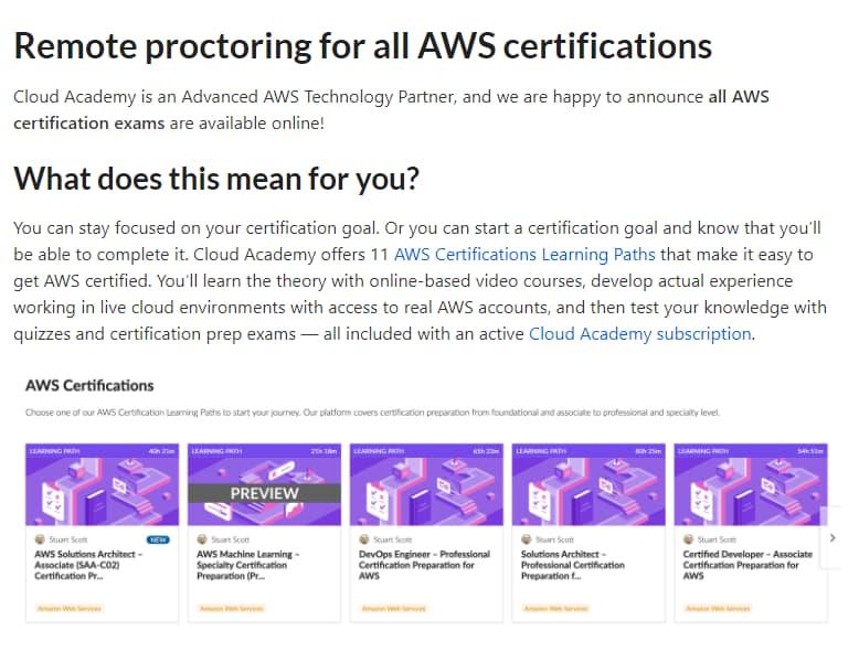 全てのAWS認定試験がオンラインで受験可能に