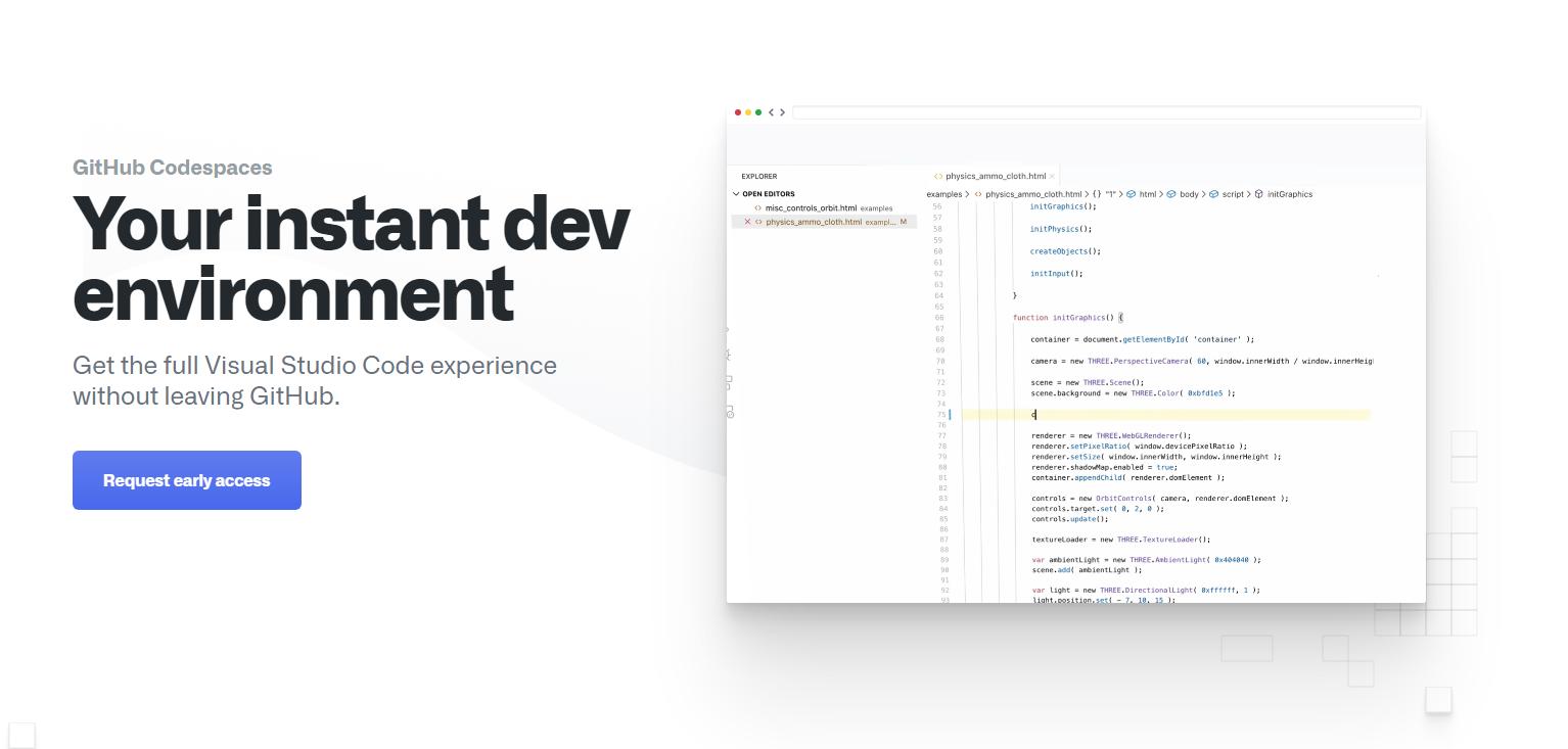 Visual Studio CodeをWebブラウザ経由で利用できるようになる、「GitHub Codespaces」のパブリックベータで公開へ