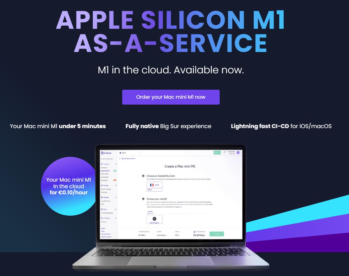 ScalewayでM1 mac miniインスタンスが作成可能に