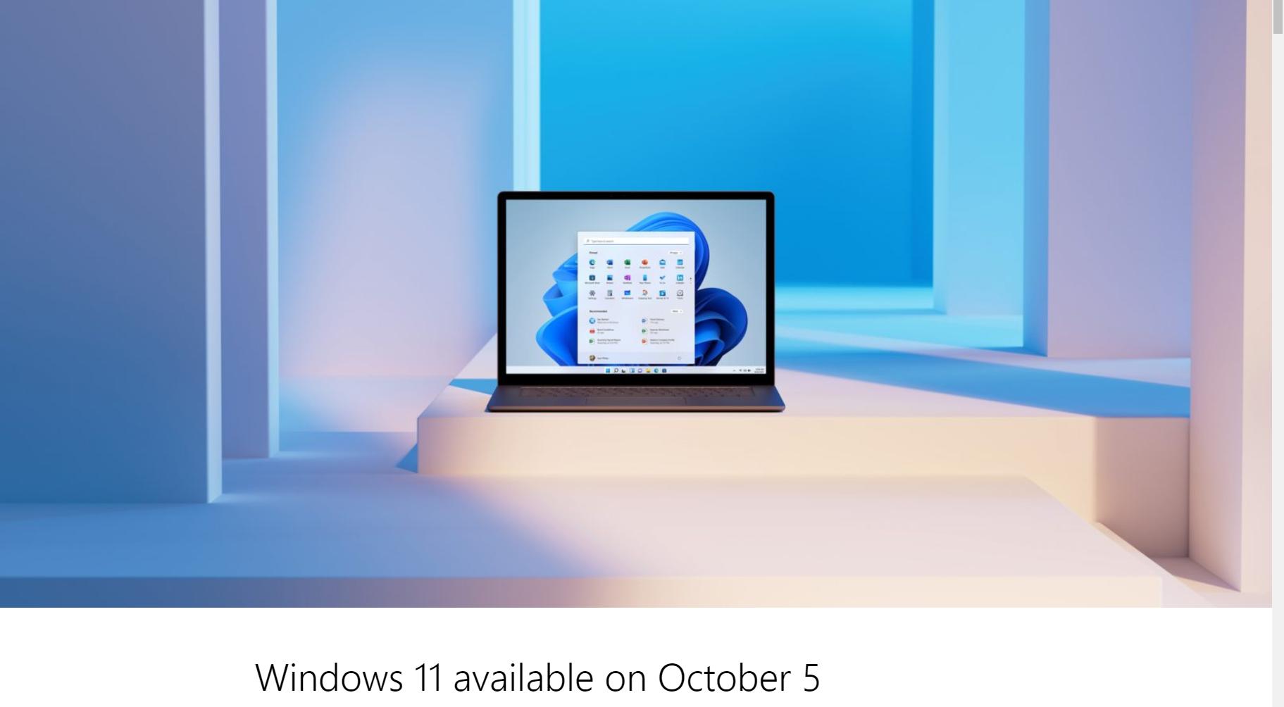 Windows 11が2021年10月5日にリリースへ